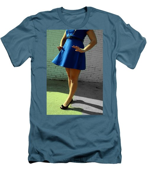 High Heels And A Blue Skirt Men's T-Shirt (Athletic Fit)