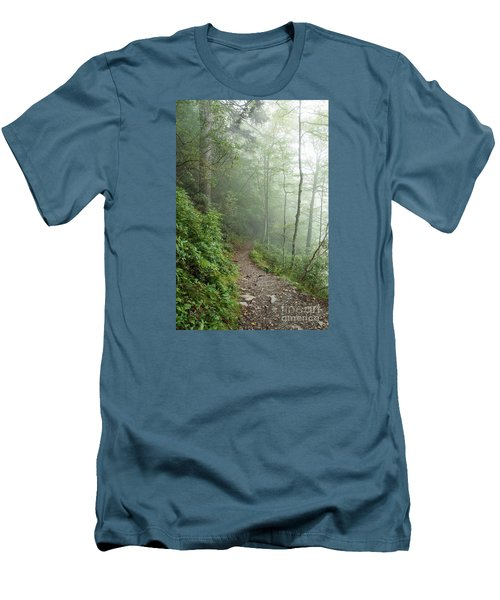 Hiking In The Clouds Men's T-Shirt (Slim Fit) by Debbie Green