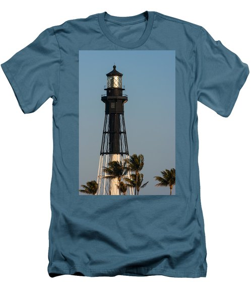 Hillsboro Inlet Lighthouse In The Evening Men's T-Shirt (Athletic Fit)