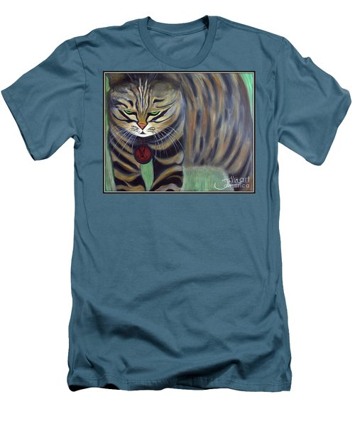 His Lordship Monty Men's T-Shirt (Slim Fit) by Jolanta Anna Karolska