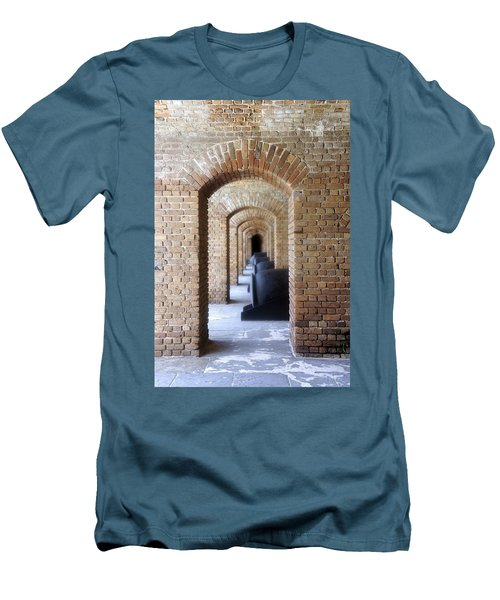 Men's T-Shirt (Slim Fit) featuring the photograph Historic Hallway by Laurie Perry