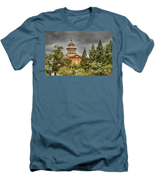 Men's T-Shirt (Slim Fit) featuring the photograph Historic Placer County Courthouse by Jim Thompson