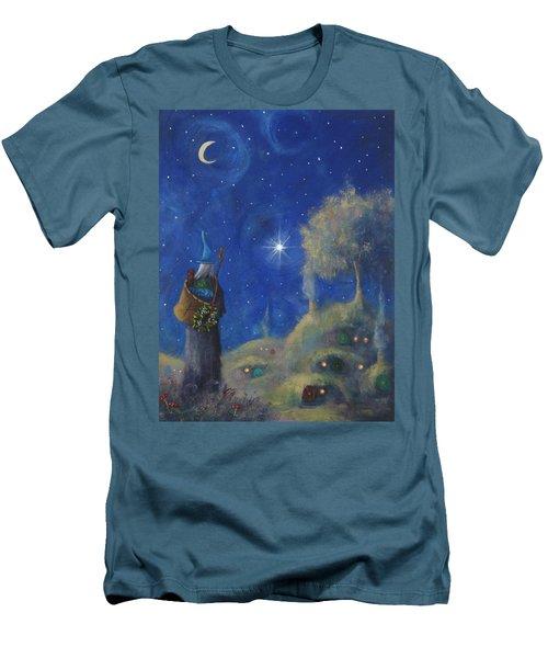 Hobbiton Christmas Eve Men's T-Shirt (Slim Fit) by Joe Gilronan