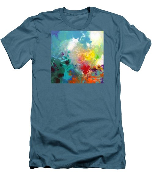 Holding The High Watch Canvas One Men's T-Shirt (Slim Fit) by Sally Trace