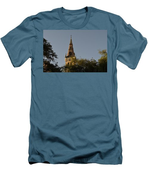 Men's T-Shirt (Slim Fit) featuring the photograph Holy Tower   by Shawn Marlow