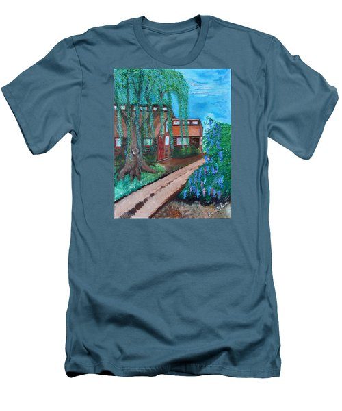 Men's T-Shirt (Slim Fit) featuring the painting Home by Cassie Sears