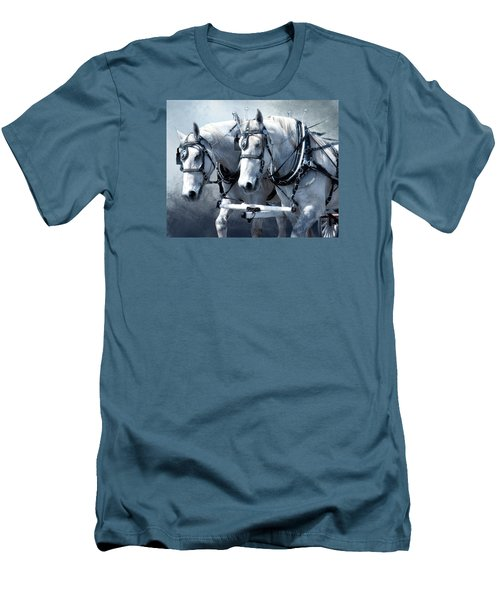 Men's T-Shirt (Slim Fit) featuring the digital art Homeward Bound by Mary Almond