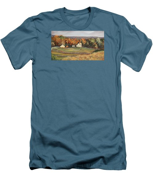 Horse Farm Men's T-Shirt (Slim Fit) by Alan Mager