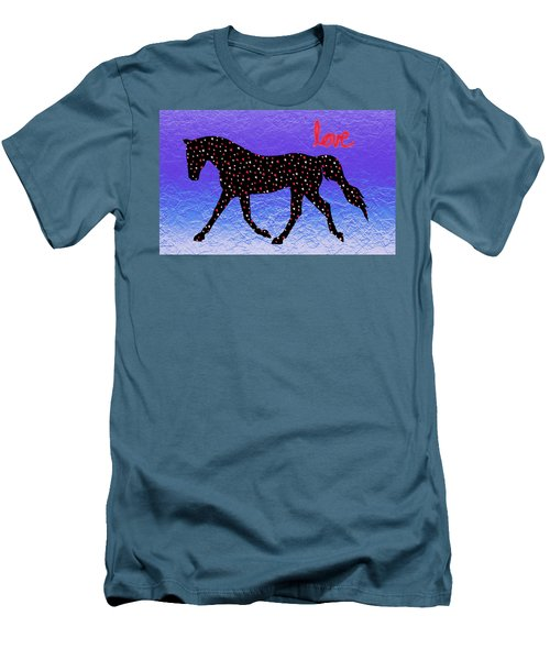 Horse Hearts And Love Men's T-Shirt (Slim Fit) by Patricia Barmatz