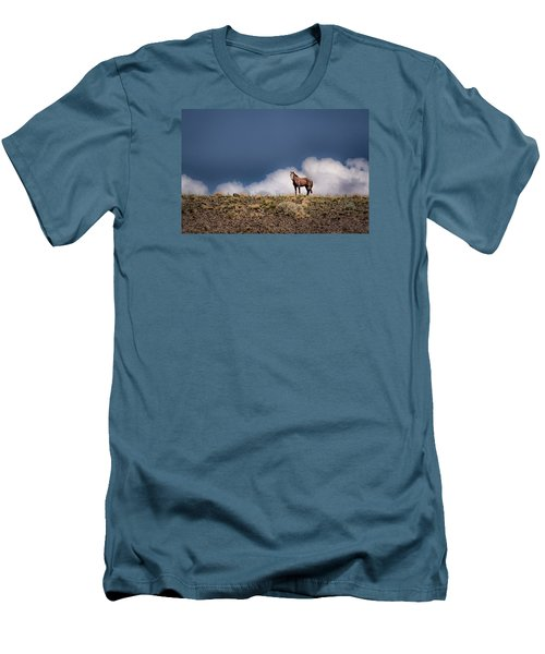 Men's T-Shirt (Slim Fit) featuring the photograph Horse In The Clouds  by Janis Knight