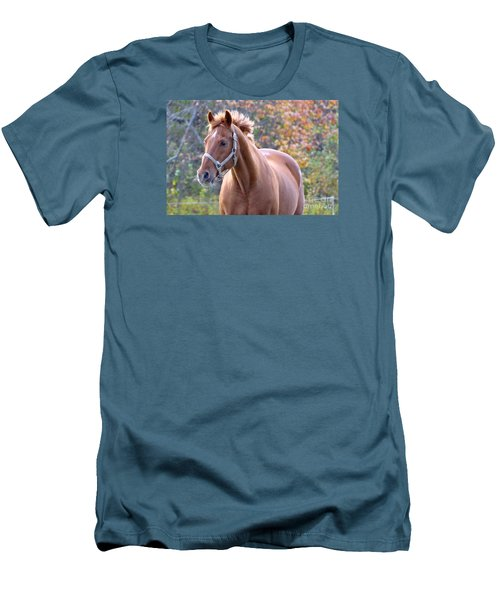 Men's T-Shirt (Slim Fit) featuring the photograph Horse Muscle by Glenn Gordon