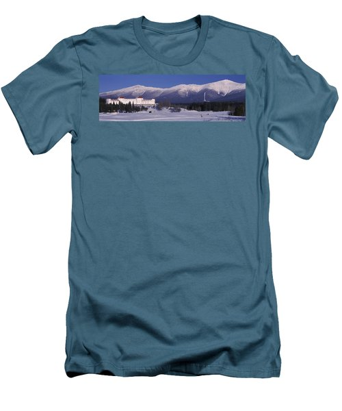 Hotel Near Snow Covered Mountains, Mt Men's T-Shirt (Athletic Fit)