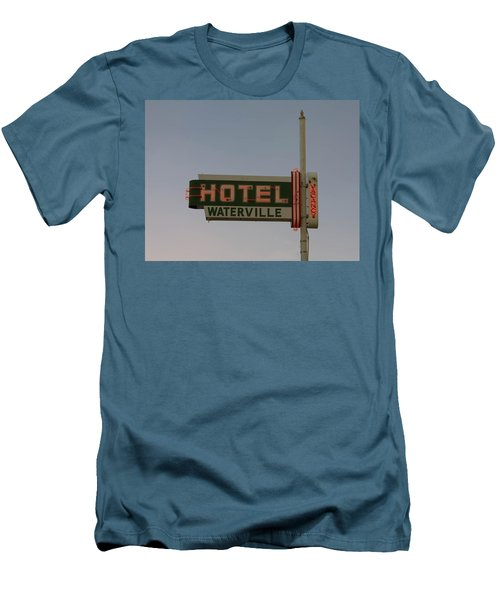 Hotel Waterville Neon Sign Men's T-Shirt (Athletic Fit)