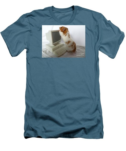 Men's T-Shirt (Slim Fit) featuring the photograph How Do You Switch On This Screen? by Vicki Spindler