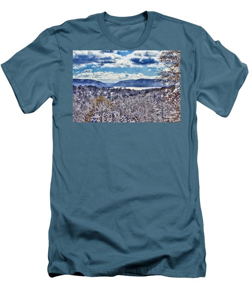 Hudson Valley First Snow Mystic Colors Men's T-Shirt (Athletic Fit)