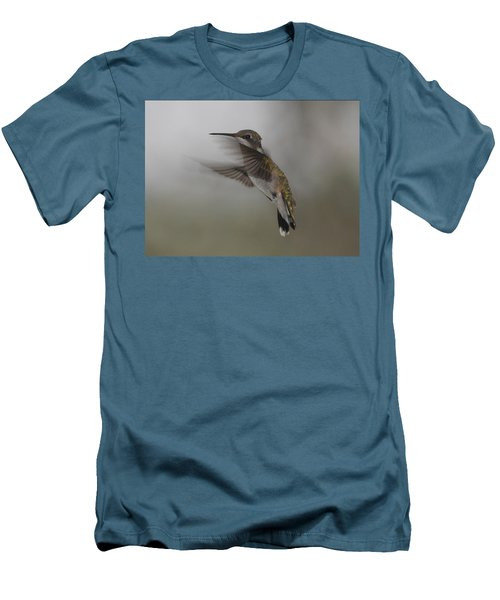 Men's T-Shirt (Slim Fit) featuring the photograph Hummingbird 6 by Leticia Latocki