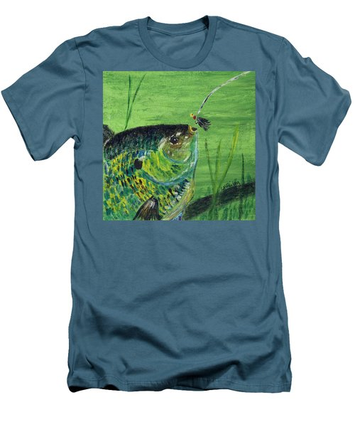 Hungry Bluegill Men's T-Shirt (Athletic Fit)