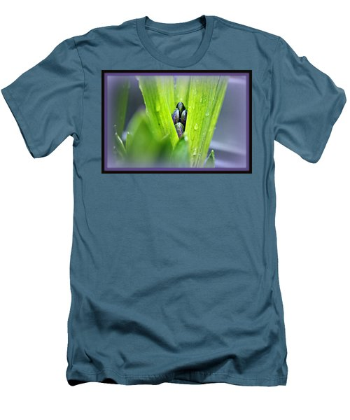Men's T-Shirt (Slim Fit) featuring the photograph Hyacinth For Micah by Katie Wing Vigil