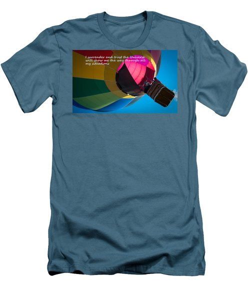 Men's T-Shirt (Slim Fit) featuring the photograph I Surrender And Trust by Patrice Zinck