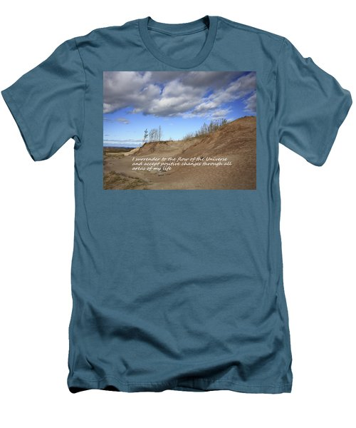 Men's T-Shirt (Slim Fit) featuring the photograph I Surrender To The Flow Of The Universe by Patrice Zinck