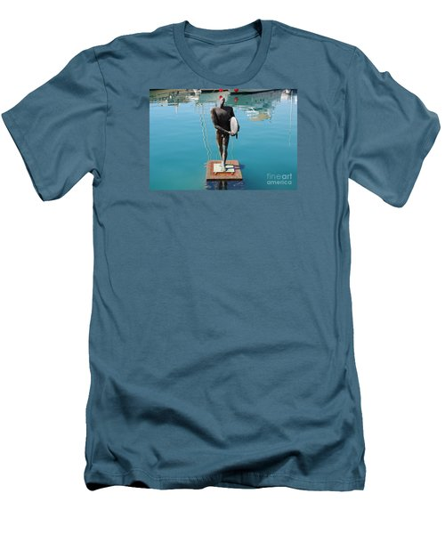 Men's T-Shirt (Slim Fit) featuring the photograph Icarus With His Surfboard by Linda Prewer