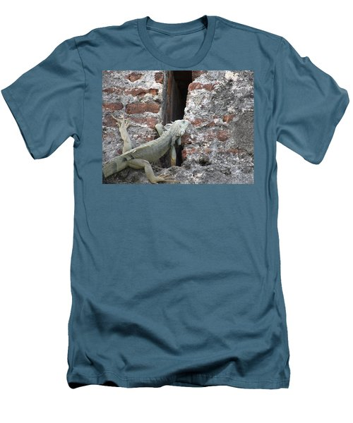 Men's T-Shirt (Slim Fit) featuring the photograph Iguana by David S Reynolds