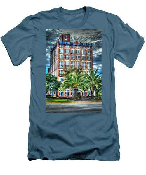 Imperial Sugar Factory Daytime Hdr Men's T-Shirt (Slim Fit) by David Morefield