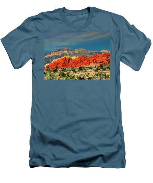 In Red Mountain 1 Men's T-Shirt (Athletic Fit)