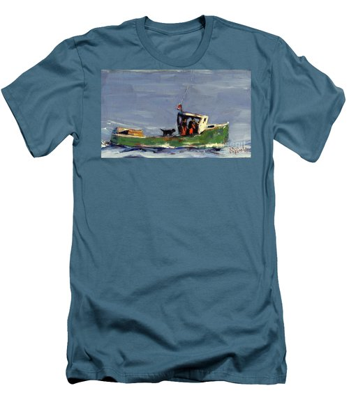 In Tow Men's T-Shirt (Slim Fit) by Molly Poole