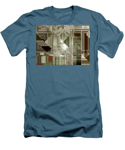 Men's T-Shirt (Slim Fit) featuring the painting Indecision I by RC deWinter
