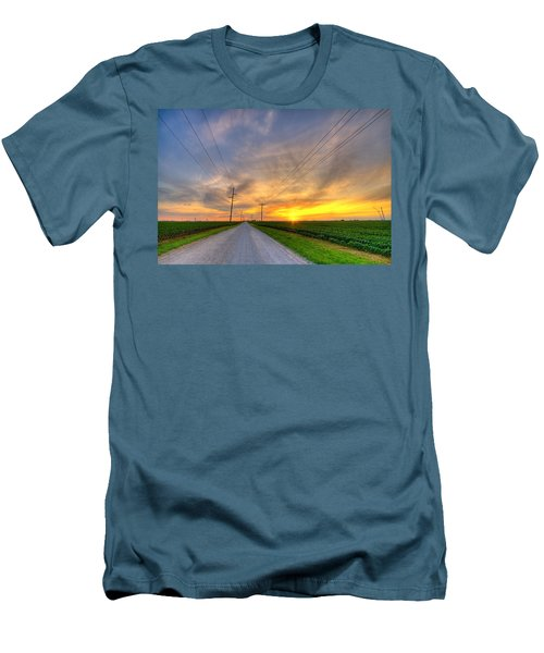 Indiana Sunset Men's T-Shirt (Athletic Fit)