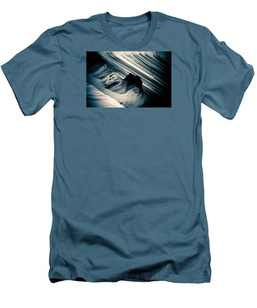 Men's T-Shirt (Slim Fit) featuring the photograph Indigo Dunes by Adria Trail