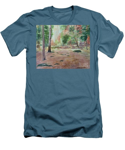 Into The Forest Men's T-Shirt (Slim Fit) by Martin Howard