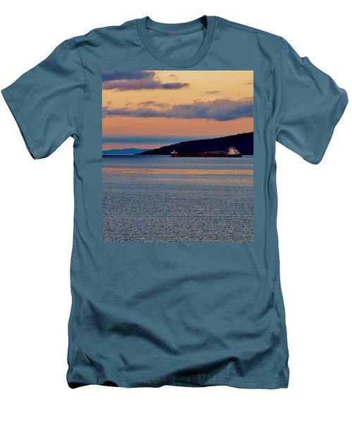 Into The Gitchigumi Night Men's T-Shirt (Slim Fit) by Daniel Thompson