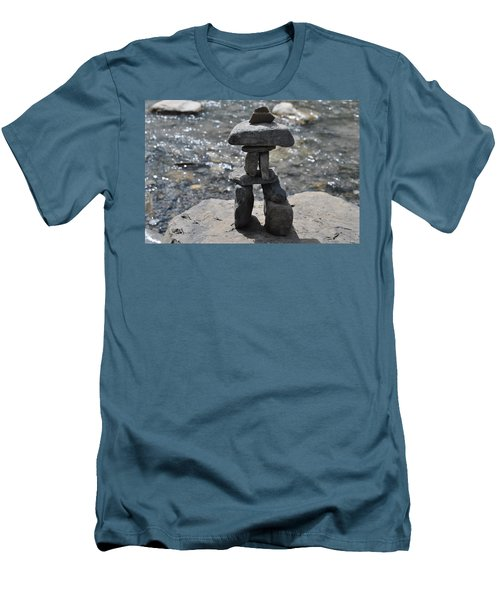 Inukshuk By The Water Men's T-Shirt (Athletic Fit)
