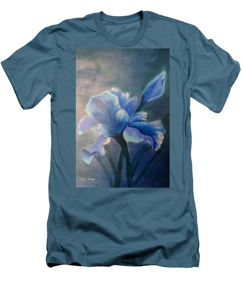 Iris Blue Men's T-Shirt (Athletic Fit)
