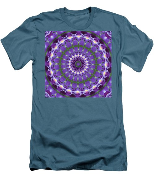 Iris Kaleidoscope  Men's T-Shirt (Athletic Fit)
