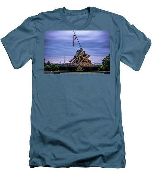 Iwo Jima Monument Men's T-Shirt (Slim Fit) by David Morefield
