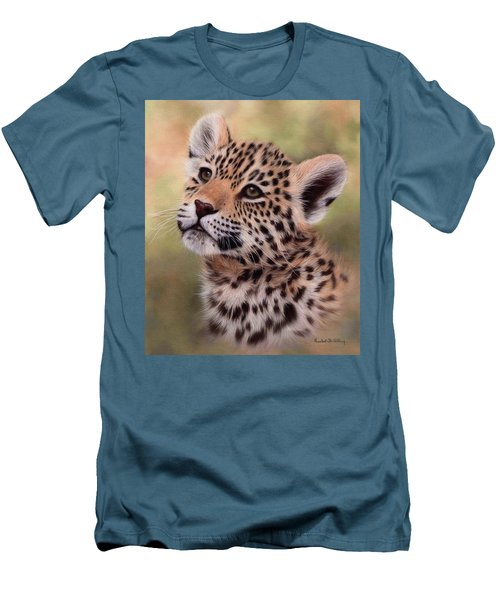 Jaguar Cub Painting Men's T-Shirt (Athletic Fit)
