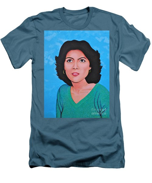 Men's T-Shirt (Slim Fit) featuring the painting Jasmina by Cyril Maza