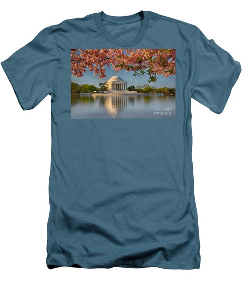 Jefferson Memorial In Spring Men's T-Shirt (Athletic Fit)