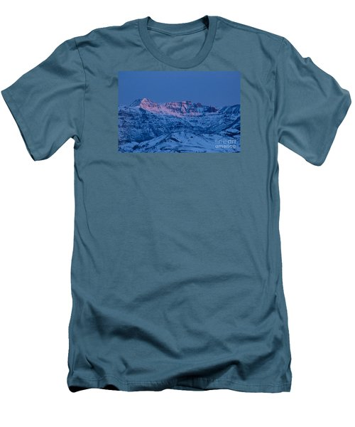 Men's T-Shirt (Slim Fit) featuring the photograph Jim Mountain-signed by J L Woody Wooden