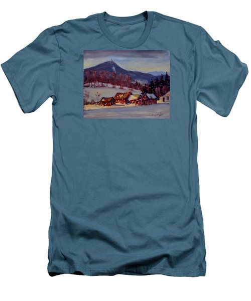 Men's T-Shirt (Slim Fit) featuring the painting Jimmie's Place by Len Stomski