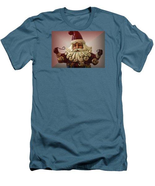 Jingle Bell Santa Men's T-Shirt (Slim Fit) by Nadalyn Larsen