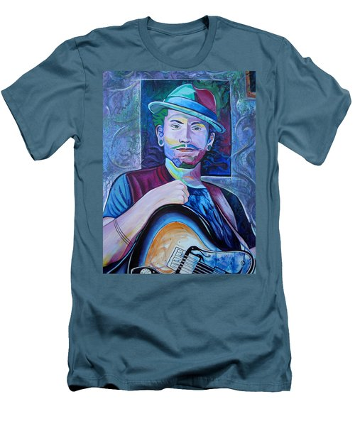 Men's T-Shirt (Slim Fit) featuring the painting John Butler by Joshua Morton