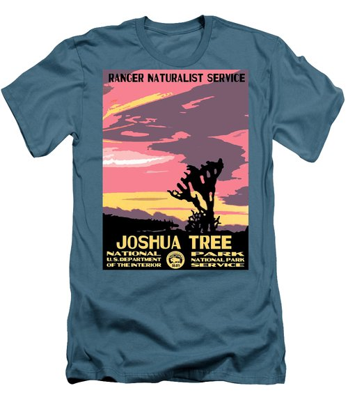 Joshua Tree National Park Vintage Poster Men's T-Shirt (Athletic Fit)
