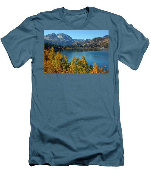 June Lake Blues And Golds Men's T-Shirt (Slim Fit) by Lynn Bauer