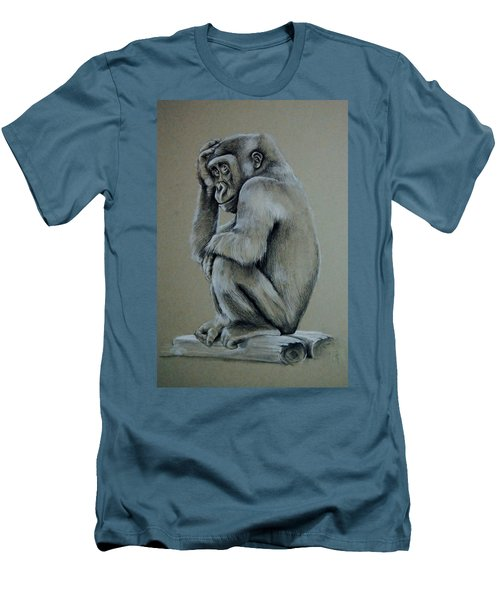 Just Thinking Men's T-Shirt (Slim Fit) by Jean Cormier