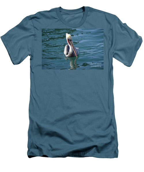 Men's T-Shirt (Athletic Fit) featuring the photograph Just Wading by Laurie L
