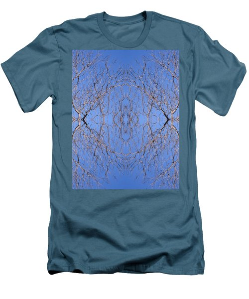 Kaleidoscope - Trees 1 Men's T-Shirt (Slim Fit) by Andy Shomock